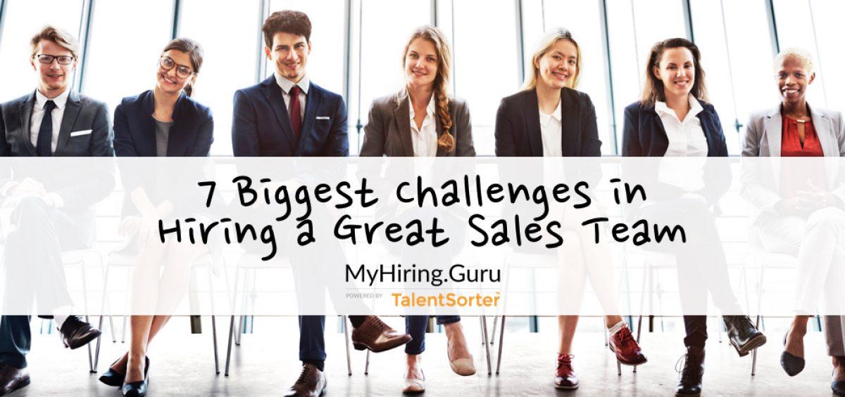 challenges hiring sales teams